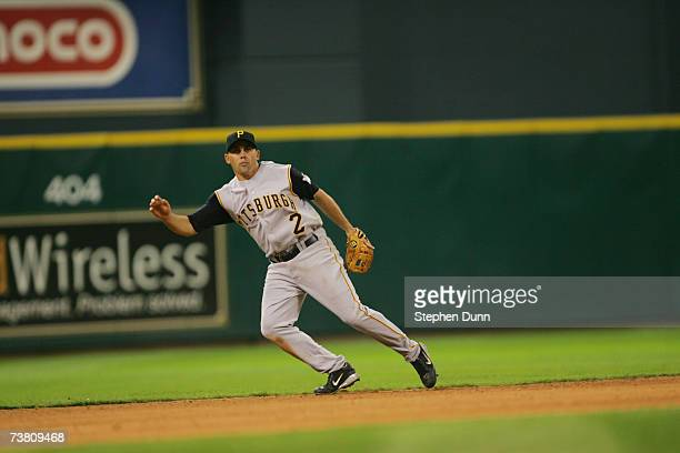 Jack Wilson of the Pittsburgh Pirates fields against the Houston Astros during the opening day game on April 2 2007 at Minute Maid Park in Houston...