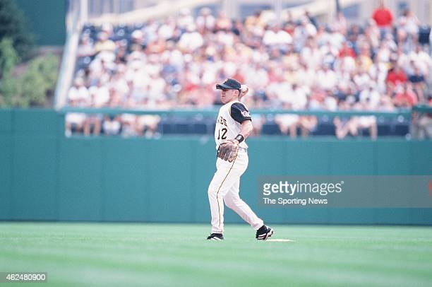 Jack Wilson of the Pittsburgh Pirates fields during a game against the Milwaukee Brewers at PNC Park on August 18 2002 in Pittsburgh Pennsylvania