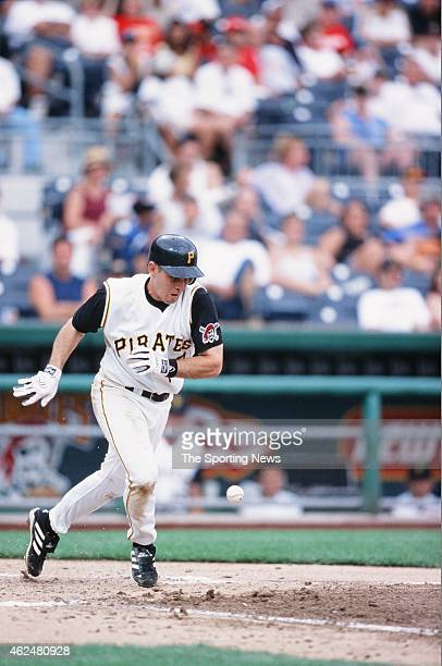 Jack Wilson of the Pittsburgh Pirates runs during a game against the Milwaukee Brewers at PNC Park on August 18 2002 in Pittsburgh Pennsylvania