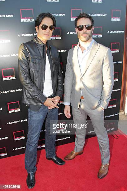 Jack Yang and Coby Ryan McLaughlin attend A Leading Man Los Angeles Premiere at the Vista Theatre on September 24 2014 in Los Angeles California