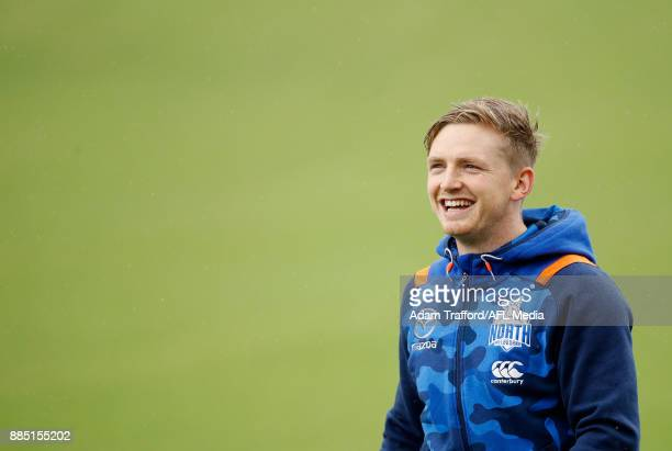 Jack Ziebell of the Kangaroos in action during the North Melbourne Kangaroos training session at Arden St on December 4 2017 in Melbourne Australia