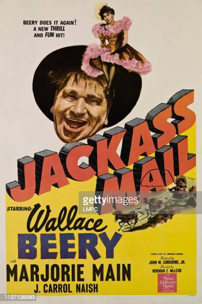 Jackass Mail poster Wallace Beery Marjorie Main 1942