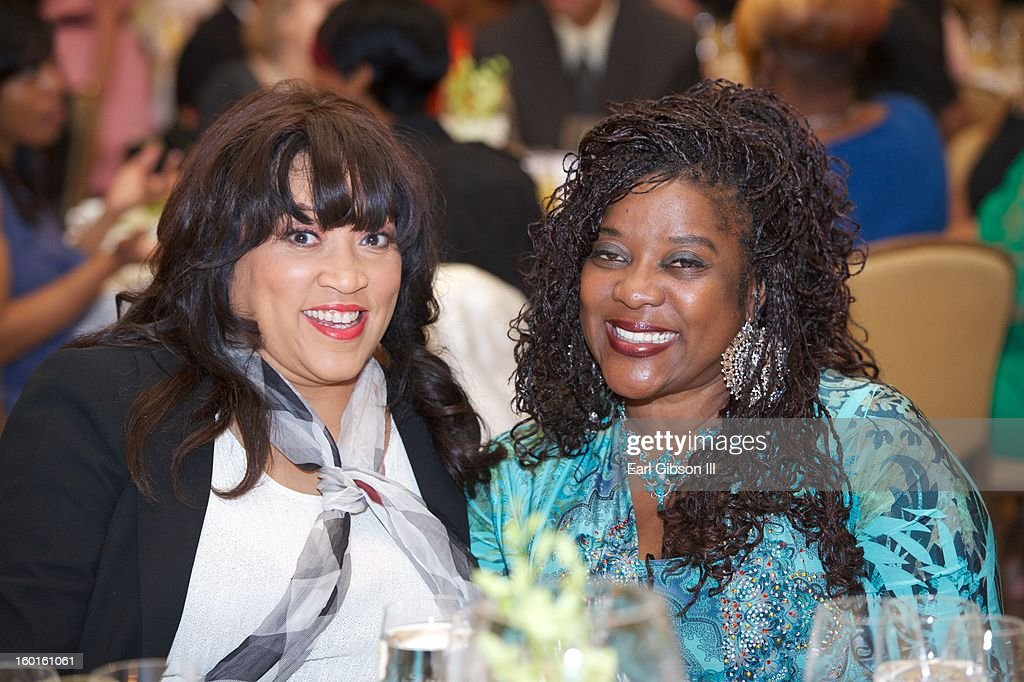 Jackee Harry and Loretta Devine attend the NAACP Image Award's Nominee's Luncheon at Montage Beverly Hills on January 26, 2013 in Beverly Hills, California.