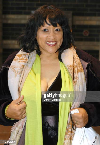 Jackee Harry during Star Jones' Wedding Guests Fill the Audience of 'The View' Departures at ABC Studios in New York City New York United States