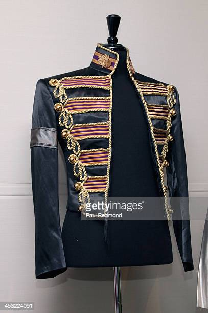 A jacket worn by recording artist Michael Jackson at Julien's Auctions presents The Trilogy Collection Props and Costumes from Middle Earth Street...