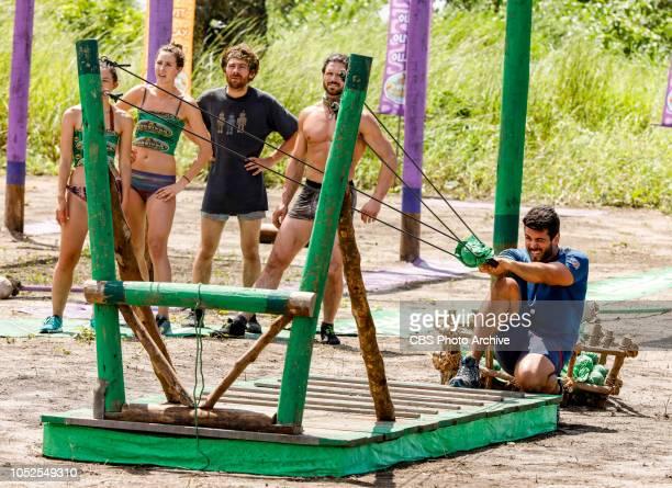 'Jackets and Eggs' Alison Raybould Christian Hubicki John Hennigan and Dan Rengering on the fifth episode of SURVIVOR David vs Goliath airing...