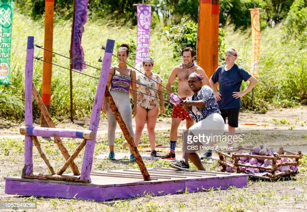 Jackets and Eggs Angelina Keeley Lyrsa Torres Nick Wilson Natalie Cole and Mike White on the fifth episode of SURVIVOR David vs Goliath airing...