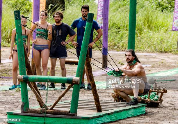 'Jackets and Eggs' Gabby Pascuzzi Alison Raybould Christian Hubicki John Hennigan and Dan Rengering on the fifth episode of SURVIVOR David vs Goliath...