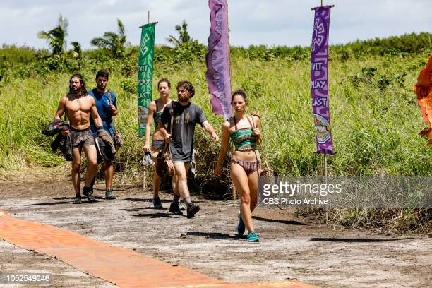 'Jackets and Eggs' John Hennigan Dan Rengering Alison Raybould Christian Hubicki and Gabby Pascuzzi on the fifth episode of SURVIVOR David vs Goliath...