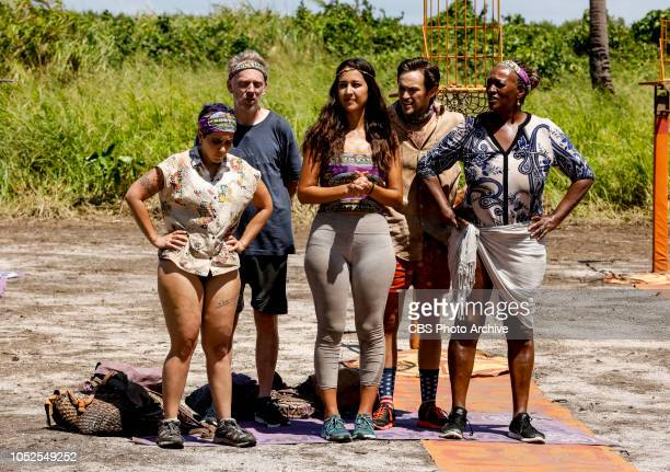 Jackets and Eggs Lyrsa Torres Mike White Angelina Keeley Nick Wilson and Natalie Cole on the fifth episode of SURVIVOR David vs Goliath airing...