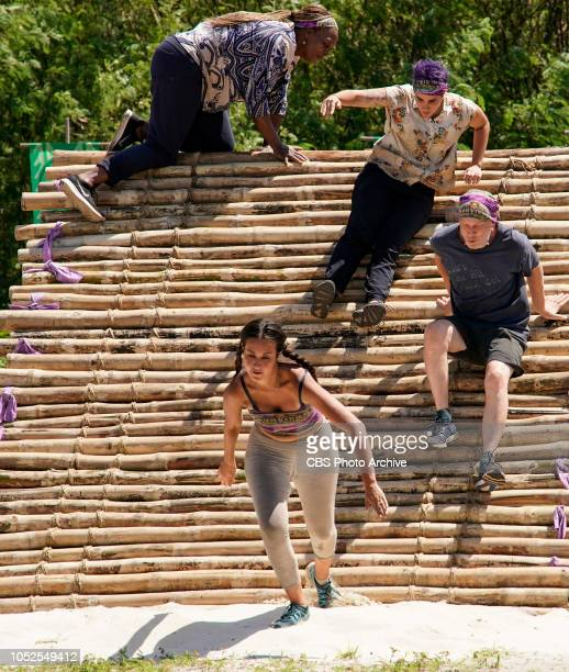Jackets and Eggs Natalie Cole Angelina Keeley Lyrsa Torres and Mike White on the fifth episode of SURVIVOR David vs Goliath airing Wednesday Oct 24...