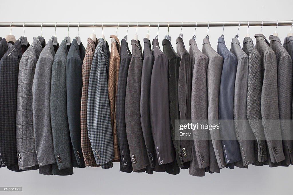 jackets on a pole : Stock Photo