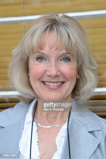 Jacki Piper attends as a blue plaque honouring Eric Morecambe and Ernie Wise is unveiled at Teddington Studios on May 19 2013 in Teddington England