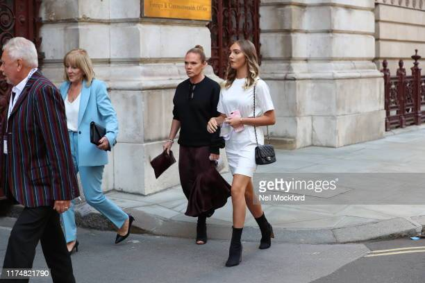 Jackie Adams and Louise Adams attend Victoria Beckham at the Foreign and Commonwealth office during LFW September 2019 on September 15, 2019 in...