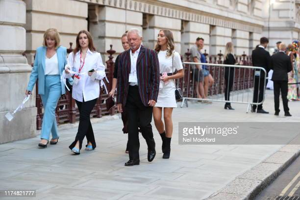 Jackie Adams, Anthony Adams and Louise Adams attend Victoria Beckham at the Foreign and Commonwealth office during LFW September 2019 on September...
