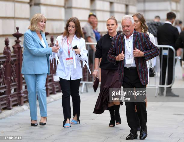 Jackie Adams Louise Adams and Tony Adams attend the Victoria Beckham show during London Fashion Week September 2019 at the Foreign Office on...