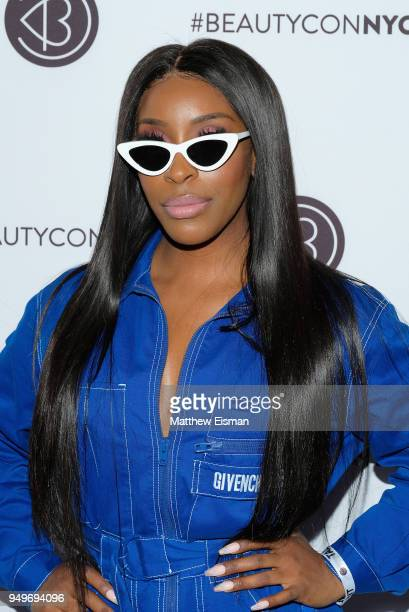 Jackie Aina attends Beautycon Festival NYC 2018 Day 1 at Jacob Javits Center on April 21 2018 in New York City