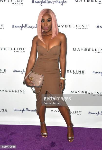 Jackie Aina attends Maybelline's Los Angeles Influencer Launch Event at 1OAK on August 10 2017 in West Hollywood California