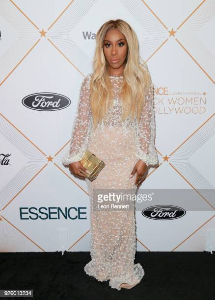 Jackie Aina attends the 2018 Essence Black Women In Hollywood Oscars Luncheon at Regent Beverly Wilshire Hotel on March 1 2018 in Beverly Hills...