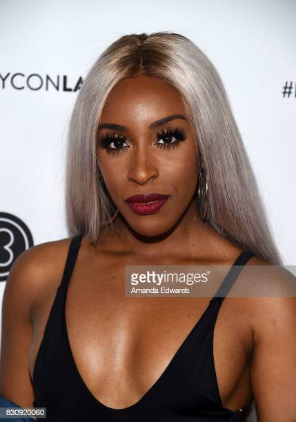 Jackie Aina attends the 5th Annual Beautycon Festival Los Angeles at the Los Angeles Convention Center on August 12 2017 in Los Angeles California