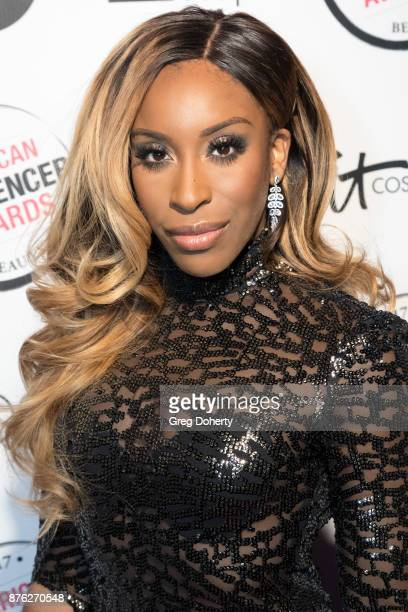 Jackie Aina attends the American Influencer Award at The Novo by Microsoft on November 18 2017 in Los Angeles California