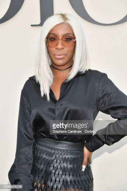 Jackie Aina attends the Christian Dior show as part of the Paris Fashion Week Womenswear Spring/Summer 2019 on September 24 2018 in Paris France