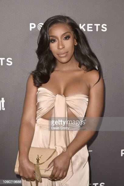 Jackie Aina attends the Entertainment Weekly PreSAG Party Arrivals at Chateau Marmont on January 26 2019 in Los Angeles California