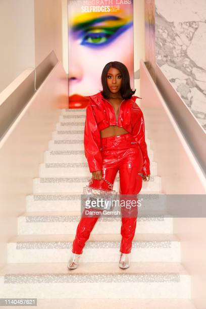 Jackie Aina attends the Pat McGrath 'A Technicolour Odyssey' Campaign launch party at Brasserie of Light Selfridges on April 04 2019 in London England