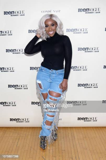 Jackie Aina attends the Teen Vogue Summit at 72andSunny on December 1 2018 in Los Angeles California