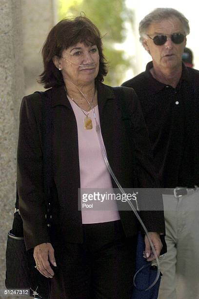 Jackie and Lee Peterson return from the San Mateo County courthouse after lunch for the trial of their son Scott Peterson August 30 2004 in Redwood...