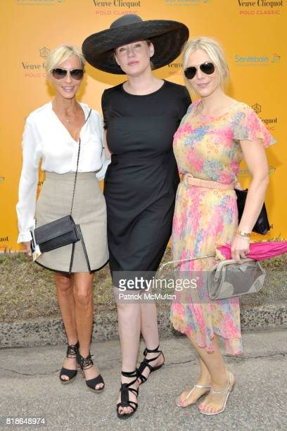 Jackie Astier Amy Sacco and Annabell Tollman attend 2010 VEUVE CLICQUOT Polo Classic at Governors Island on June 27 2010 in New York City