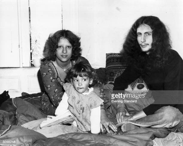 Jackie Barry with her common law husband John Chapman and their 16 month old baby Adele are squatting as they have nowhere else to go.