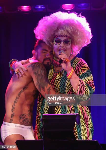 Jackie Beat with special guest Boomer Banks performs in Jackie Beat Birthday Bitch at The West Bank Cafe Theatre on July 23 2017 in New York City