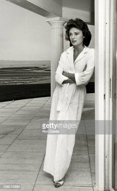Jackie Bisset during Jacqueline Bisset on Location for 'The Greek Tycoon' August 31 1977 at Sands Point in Long Island New York United States