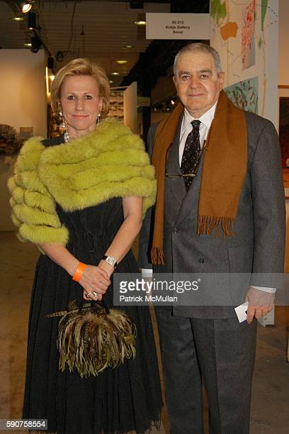 Jackie Blum and Irving Blum attend The Armory Show 2005 Opening Night Preview Party to Benefit The Exhibition Fund of The Museum of Modern Art at...