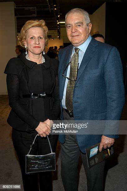 Jackie Blum and Irving Blum attend The Armory Show 2007 at Pier 94 on February 22 2007 in New York