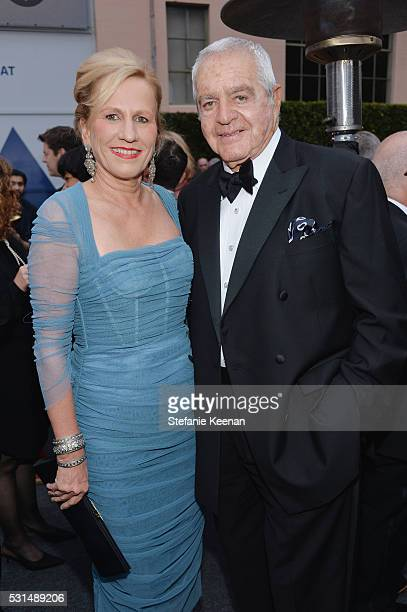 Jackie Blum and Irving Blum attend the MOCA Gala 2016 at The Geffen Contemporary at MOCA on May 14 2016 in Los Angeles California