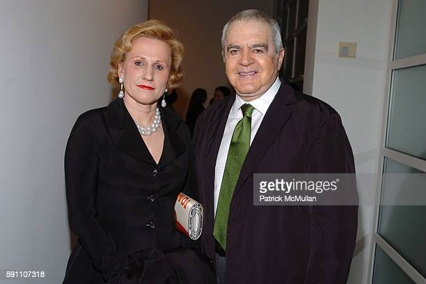 Jackie Blum and Irving Blum attend The Opening Reception of Richard Prince Check Paintings at Gagosian Gallery on February 24 2005 in Beverly Hills...