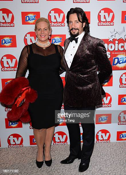 Jackie Bowen and Laurence LlewelynBowen attend the TV Choice Awards 2013 at The Dorchester on September 9 2013 in London England