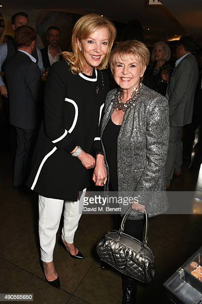 Jackie Caring and Gloria Hunniford attend the press night of Pure Imagination The Songs of Leslie Bricusse at the St James Theatre on September 29...