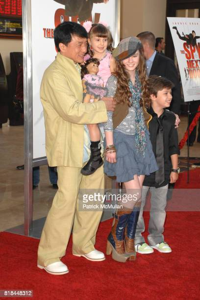 Jackie Chan Alina Foley Madeline Carroll and Will Shadley attend 'The Spy Next Door' Los Angeles Premiere at The Grove on January 9 2010 in Los...