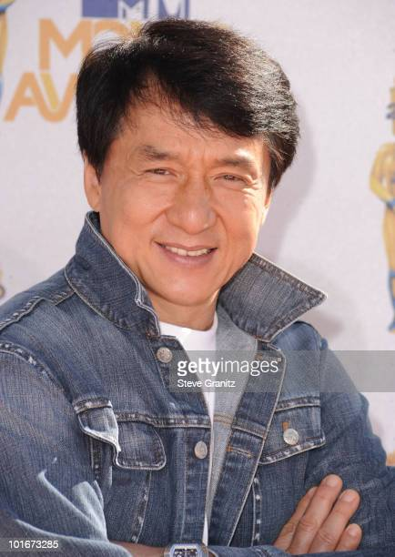 Jackie Chan arrives at the 2010 MTV Movie Awards at Gibson Amphitheatre on June 6 2010 in Universal City California
