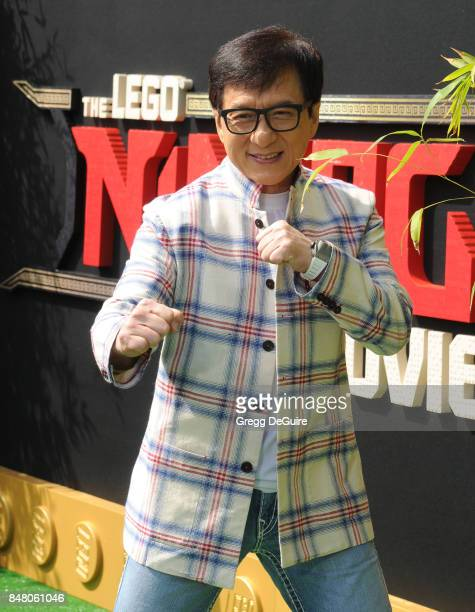 Jackie Chan arrives at the premiere of Warner Bros Pictures' 'The LEGO Ninjago Movie' at Regency Village Theatre on September 16 2017 in Westwood...