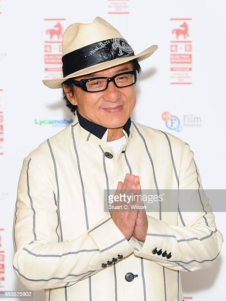 Jackie Chan attends a photocall to introduce a special screening of Chinese Zodiac at BFI Southbank on August 12 2014 in London England