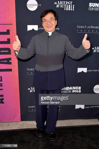 Jackie Chan attends An Artist at the Table Dinner and Program during the 2019 Sundance Film Festival at Utah Film Studios on January 24 2019 in Park...