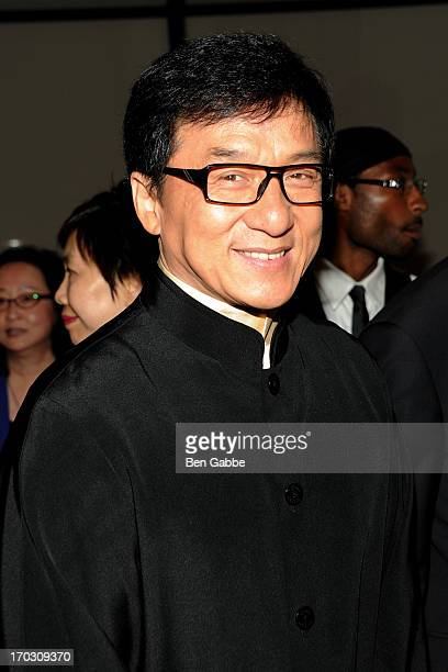 Jackie Chan attends Reception Celebrating Jackie Chan and Hong Kong Cinema at Stanley Kaplan Penthouse on June 10 2013 in New York City