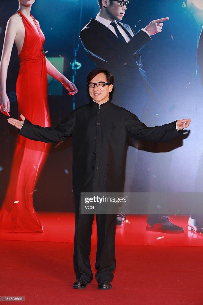 Jackie Chan attends the 33rd Hong Kong Film Awards red carpet on April 13, 2014 in Hong Kong, China.