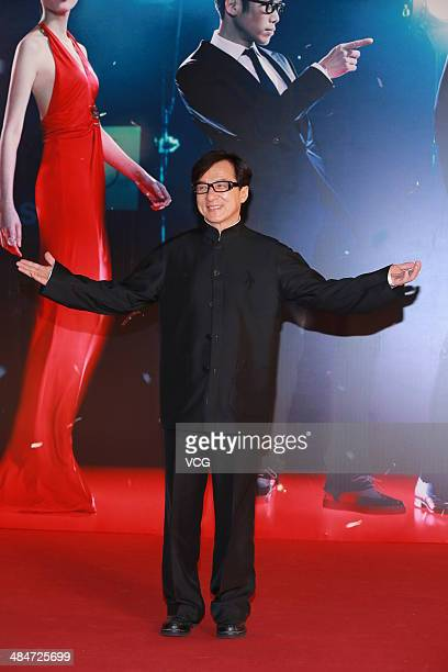 Jackie Chan attends the 33rd Hong Kong Film Awards red carpet on April 13 2014 in Hong Kong China