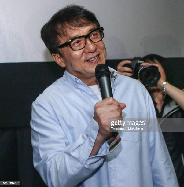 Jackie Chan attends 'The Foreigner' special screening with Jackie Chan at Regal South Beach on October 12 2017 in Miami Florida