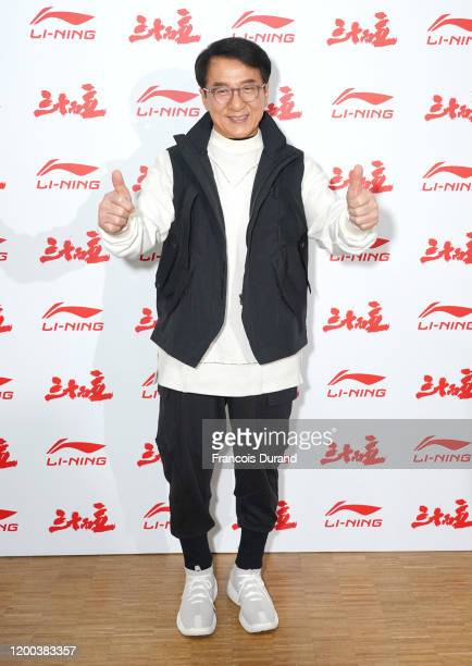 Jackie Chan attends the LiNing Menswear Fall/Winter 20202021 show as part of Paris Fashion Week on January 18 2020 in Paris France